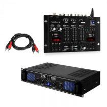 Skytec SPL1000EQ, sada PA zosilňovač, mixážny pult Resident DJ 22BT 2CH
