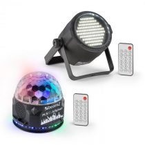 Beamz PLS10, sada Jellyball V1, 48 RGB LED diód, PLS15 Strobe LED stroboskop