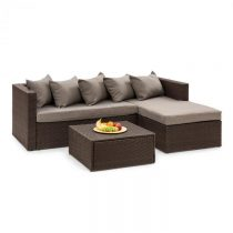 Blumfeldt Theia Lounge Set, záhradná sedacia súprava, hnedá/hnedá