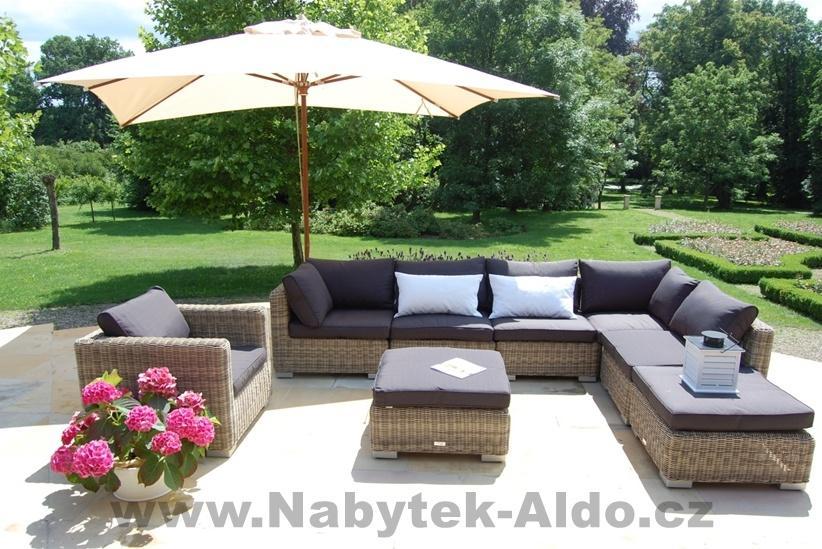 Záhradný nábytok Florence, eko ratan, prírodný odtieň, cena: od 256,13 EUR