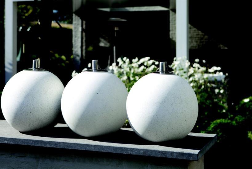 Záhradné olejové stolové lampy sú nádhernou dekoráciou, kov-umelý kameň, cena: 22,26 EUR / 1 ks