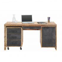 Písací Stôl In Mango Massiv