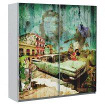 Skriňa S Posuvnými Dvermi Plakato Cuba